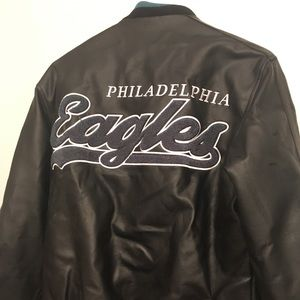 ✨HP✨Philadelphia Eagles Leather Embroidered Jacket
